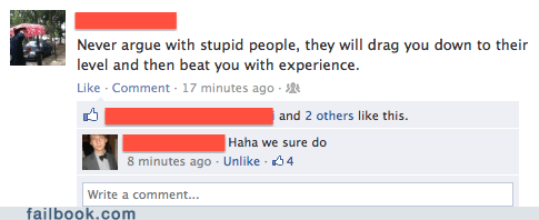 arguing with stupid people,stupid people