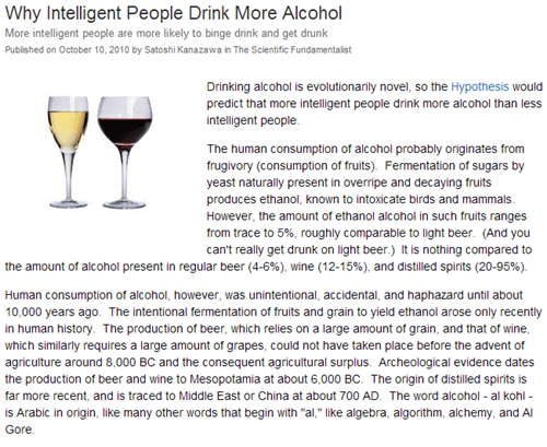 drinking habits,smart people,psychology,studies