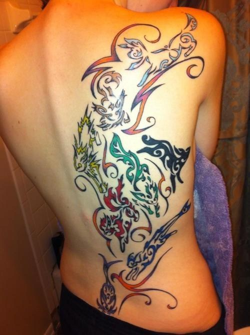 eeveelutions awesome eevee tattoo amazing - 6738877952