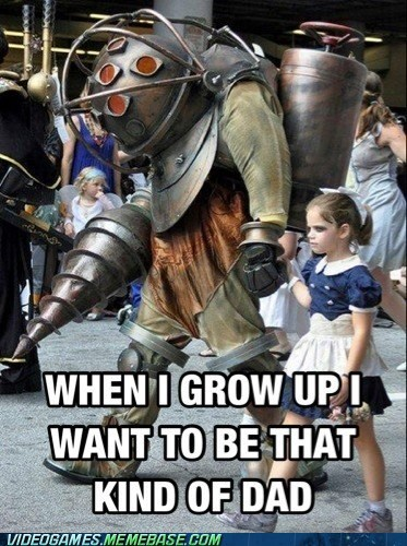 cosplay,awesome,big daddy,little sister,bioshock