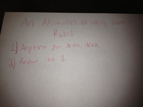 alcoholics drinking game simple enough - 6739014400