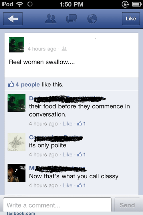 swallowing your food,real women