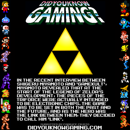 link,did you know gaming,triforce,zelda
