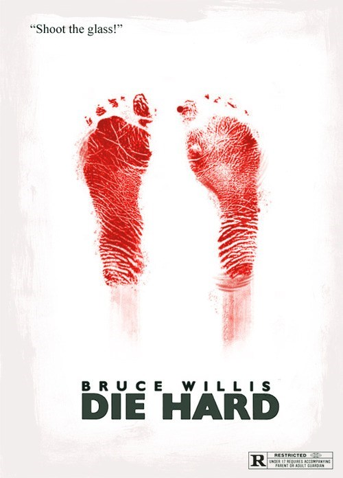 minimalist art poster bruce willis Movie die hard - 6739344640