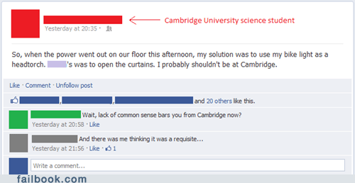 cambridge absentminded genius