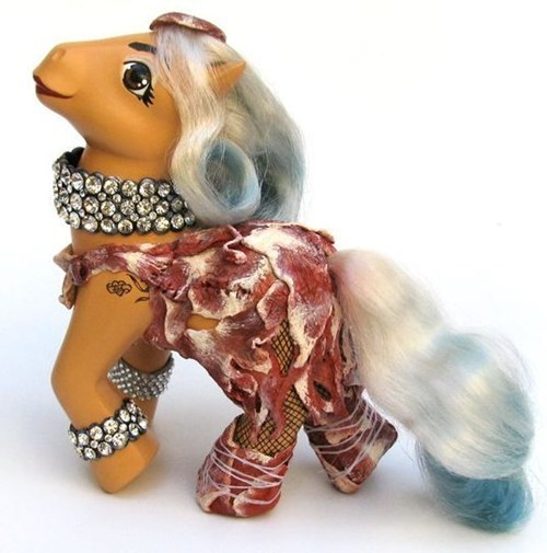 my little pony lady gaga meat dress