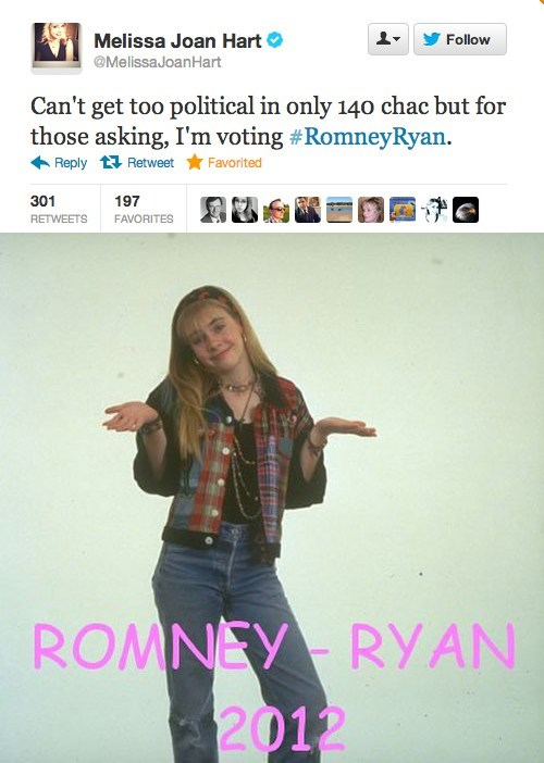 na na na na na na na na na lyrics song Mitt Romney Clarissa Explains It All endorsement election melissa joan hart - 6739428096