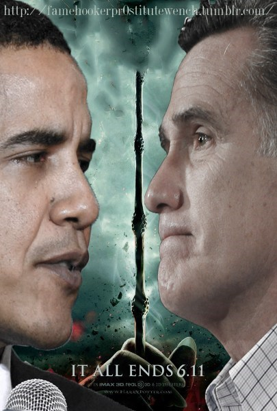 Harry Potter Mitt Romney president it all ends barack obama election elder wand - 6739566080