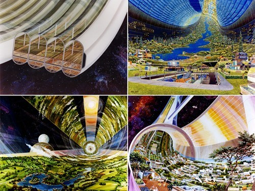 retro futurism architecture design conceptual space - 6739664640