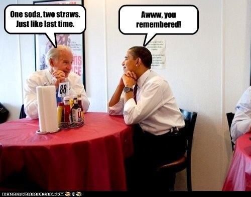 straws,date,soda,cute,barack obama,love,joe biden