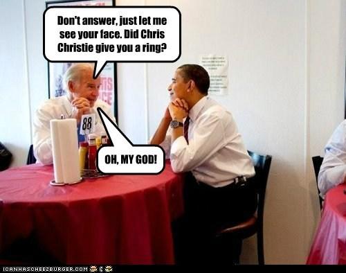 Chris Christie barack obama love joe biden - 6739790592