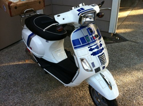 moped star wars vespa r2-d2 nerdgasm Hall of Fame best of week - 6739818496