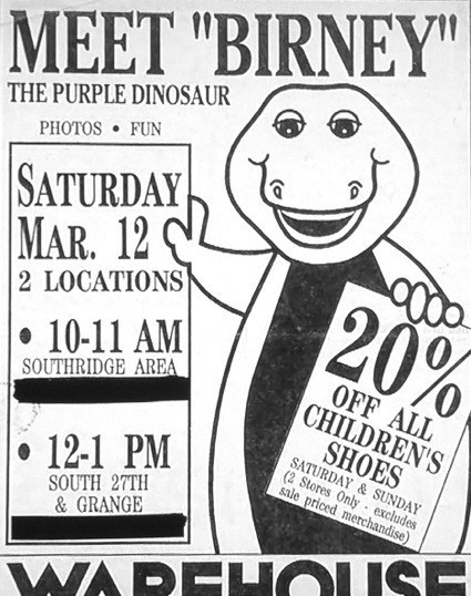 advertisement,knock off,barney,seems legit