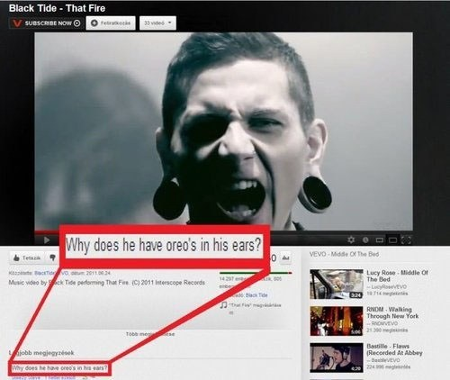black tide,Oreos,gauges,youtube comments
