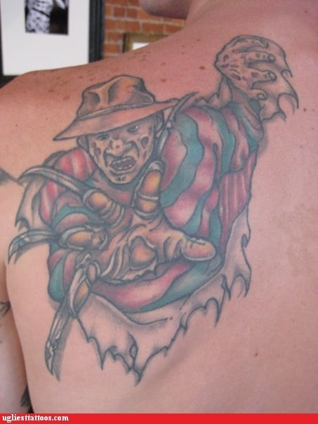 freddy kreuger back tattoos - 6740060416