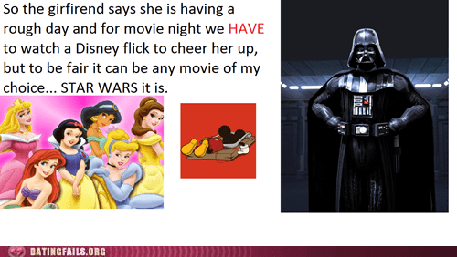 disney star wars movie night chick flick