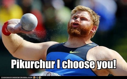 shotput i choose you Pokémon idk pikachu