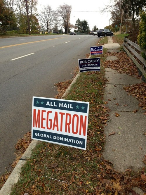 transformers,sign,vote,nerdgasm,megatron,election,Hall of Fame,best of week