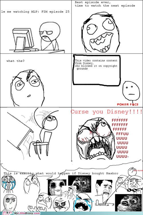 Sad disney copyright noooooo rage comic