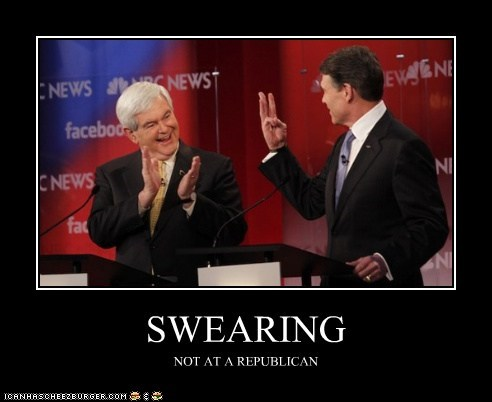 SWEARING NOT AT A REPUBLICAN