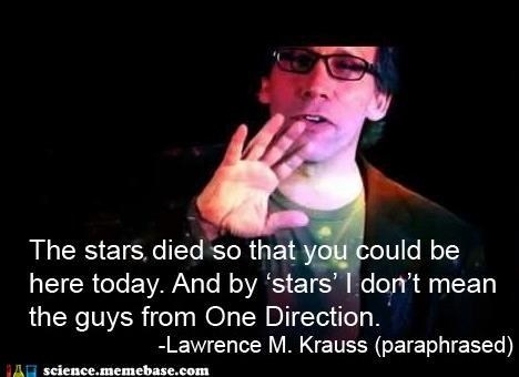 one direction,lawrence krauss,quote