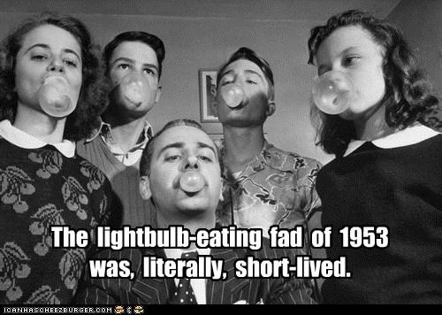 gum,lightbulbs,bubbles