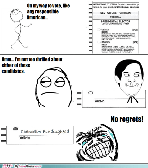 puddinghead so close to a win rage comic election