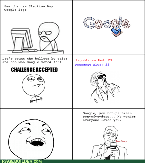 Challenge Accepted,election,google doodles,google