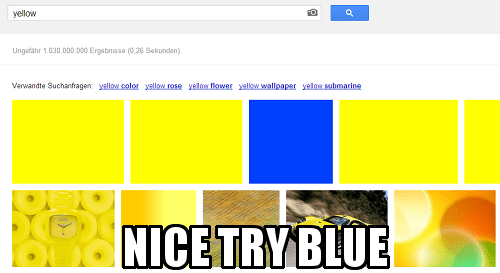 yes blue yellow so good