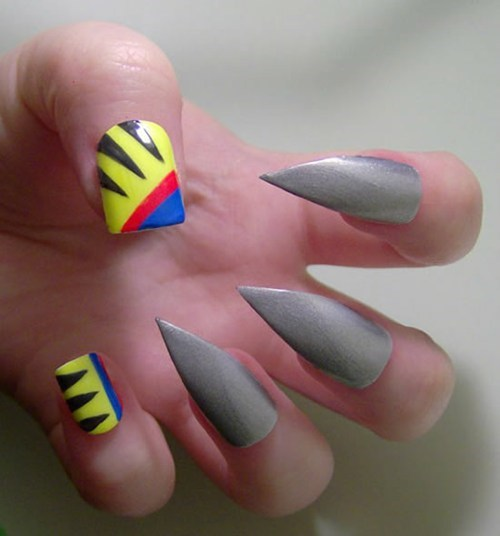 nails fashion x men manicure style wolverine - 6742076160
