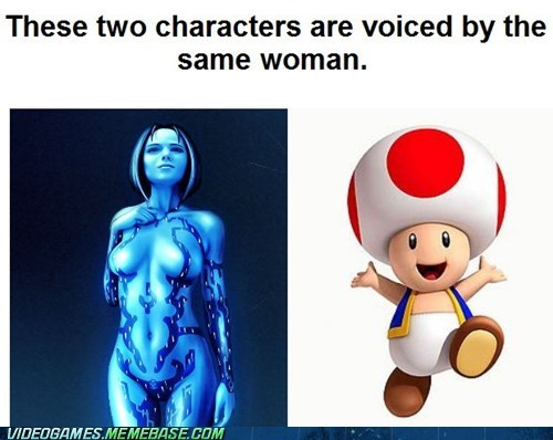 cortana voice actor toadstool halo mario