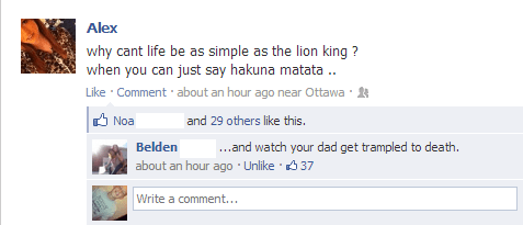 the lion king,facebook,dad