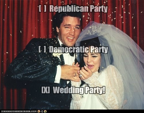 Republican Party Democratic Party X Wedding Party