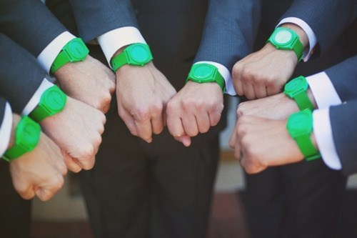 green Groomsmen accessories watches matching - 6742367488
