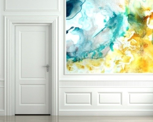 design wallpaper watercolor pretty colors - 6742493184