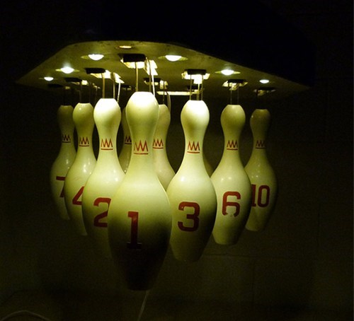 lamp design bowling pins bowling light