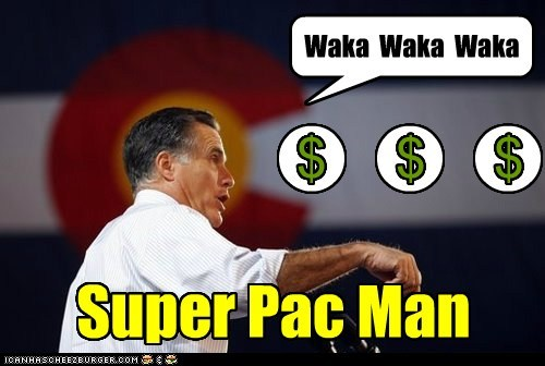 Mitt Romney super pac pac man video games wakka wakka - 6742600960
