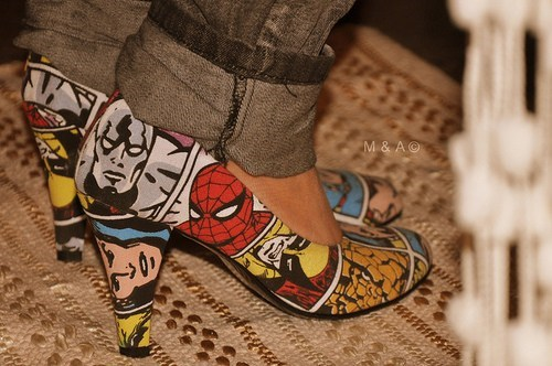 shoes Spider-Man cute wolverine - 6742635776