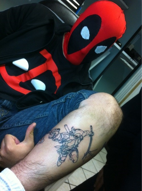 costume deadpool tattoo fan - 6742677760
