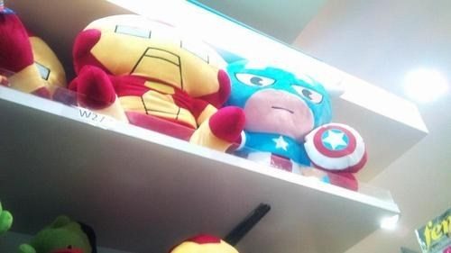 Plush,iron man,captain america