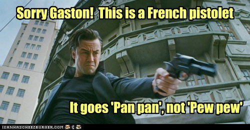joe pistol gun french Joseph Gordon-Levitt looper pew pew pan - 6742876416