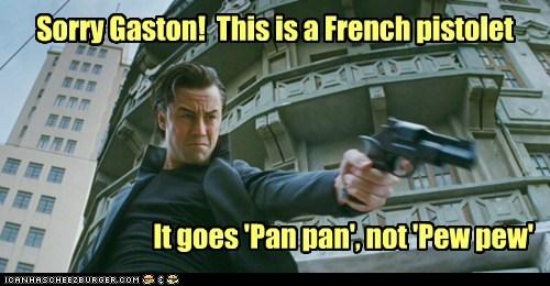 joe pistol gun french Joseph Gordon-Levitt looper pew pew pan - 6742876416