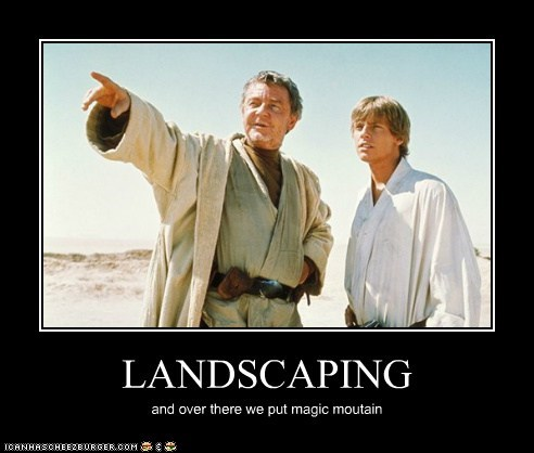 disney,star wars,landscaping,luke skywalker,magic mountain,uncle owen,Mark Hamill
