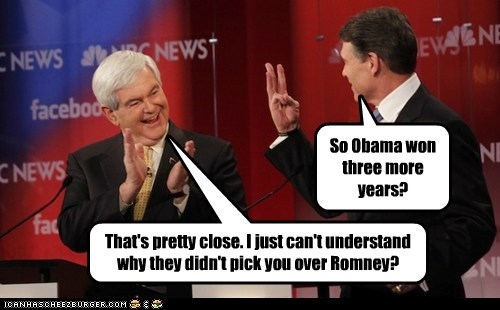 smart clapping close newt gingrich three election stupid Rick Perry - 6743601664