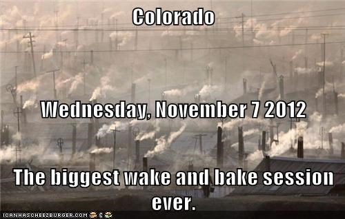 wake and bake Colorado marijuana smoke wednesday