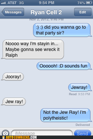 iPhones jew ray wreck it ralph