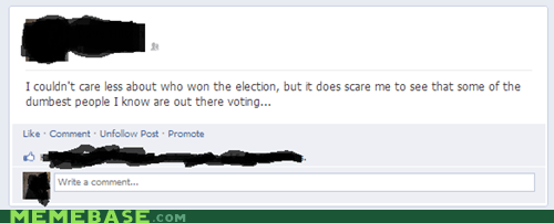 spelling issues,dumb people,facebook,voting