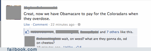 obamacare Colorado healthcare cheetos overdose weed - 6743759616