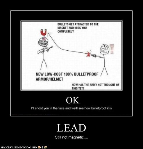 LEAD Still not magnetic....