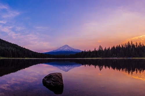 oregon mt-hood landscape pretty colors lake - 6743817472